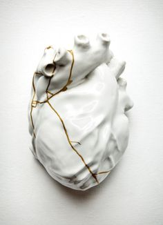 Kintsugi or Kintsukuroi is the Japanese art of repairing broken pottery with lacquer dusted or mixed with powdered gold, silver, or platinum, a method similar to the maki-e technique. As a philosophy it treats breakage and repair as part of the history of an object, rather than something to disguise.