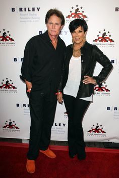 Kris Jenner and Gene Simmons at boxing benefit