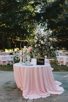 Pink wedding reception: http://www.stylemepretty.com/little-black-book-blog/2015/02/09/casual-elegance-in-santa-rosa-beach/ | Photography: W&E - http://wephotographie.com/