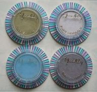 Yardley of London eye shadow cases--1960's--Loved the blue.. Yes, BLUE
