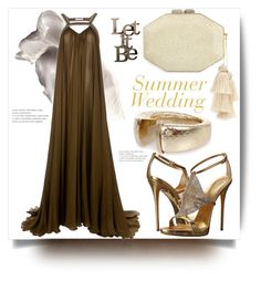 """Summer Wedding"" by evachasioti ❤ liked on Polyvore featuring Giuseppe Zanotti, Matthew Williamson, Rafe, Letter2Word, MyStyle and summerwedding"
