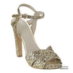 Nine West Glitter Heels Wedding Shoes 2012