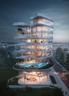 Cyprus tower designed by Atelier Monolit is part of Zaha Hadid architecture Rome Italy - Zaha Hadid architecture Rome Italy Architecture Design, Romanesque Architecture, Hotel Architecture, Cultural Architecture, Education Architecture, Classic Architecture, Futuristic Architecture, Residential Architecture, Amazing Architecture