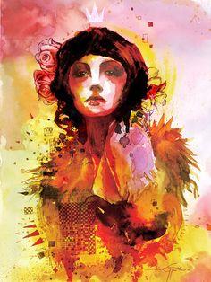 'Madame'. Giclée Art Print by Javier G. Pacheco
