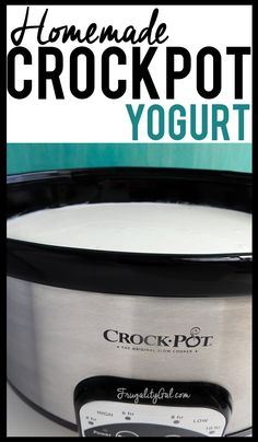 Easy crockpot recipe : Homemade yogurt in the crockpot. An easy, hands-off method for making creamy yogurt.