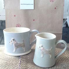 dog mugs by Jane Hogben