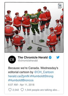 Humboldt Strong Canadian Humour, Canadian Girls, Canada Eh, Lest We Forget, True North, Canada Travel, Strong, Cartoon, Baseball Cards