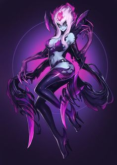 Evelynn Fan Art League of Legends - Minecraft, Pubg, Lol and Lol League Of Legends, Champions League Of Legends, Evelynn League Of Legends, Legend Of Legends, Lol Champions, Dark Fantasy Art, Fantasy Girl, Final Fantasy, Fantasy Characters