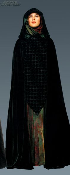 Handmaiden's funeral gown at the end of Revenge of the Sith