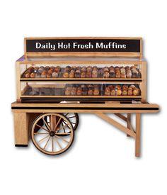 "Rustic Bakery Cart 90""L x 49""W x 68""H"