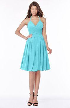 Traditional Halter Sleeveless Chiffon Knee Length Bridesmaid Dresses Purple Bridesmaid  Dresses af6551b85704