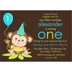 1st birthday monkey theme for boy