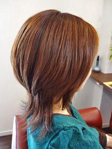髪型 ミディアム ウルフ 髪型 レイヤーカットヘア ショート パーマ