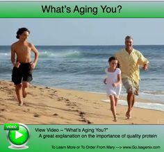 "What's Aging You?"" The video covers cutting edge Telomere Research, also explains what makes Isagenix whey protein above the rest. ~ Mary at www.Go.Isagenix.com"