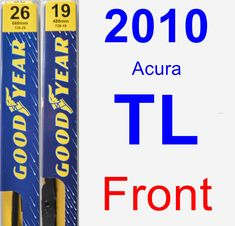 Front Wiper Blade Pack for 2010 Acura TL - Premium