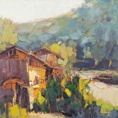Zheng Yong Gang, olieverf, Village