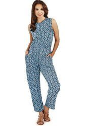 Saiesta Women's Ikat Prints Woven Relaxed Fit No Sleeve Round Neck Jumpsuit from $23.99 by Amazon BESTSELLERS