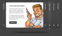 Ultra Sleek Accordion Slider: Free PSD Template
