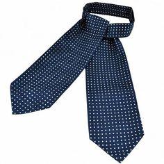 Remo Sartori Made in Italy Polka Dots Blue Denim Necktie 3 Width Print Silk