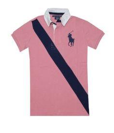 Ralph Lauren Sport Women Big Pony Logo Diagonal Stripe Polo T-shirt (S, Rose/navy) Ralph Lauren. $59.99