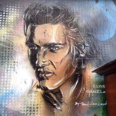 Can't help falling in love with you (again) #elvis #elvispriesley #london #latergram #graffiti #shoreditch #streetart #streetartandgraffiti #art #music #love