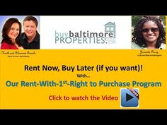 Rent with Frist Right to Purchase Program | BuyBaltimoreProperties.com | Keith and Shannon French - YouTube