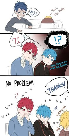 Kuroko no Basuke ~ Generation of Miracles comic strip (read left to right)
