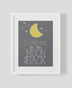 I love you to the moon and back Poster. door AdorablePrintables, $6,50