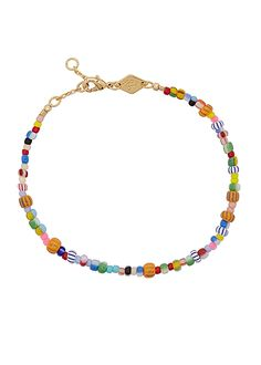 Personalisation, pastels and rainbow beaded jewellery Beaded Anklets, Beaded Jewelry, Beaded Necklace, Beaded Bracelets, Gold Plated Bracelets, Jewellery Uk, Initial Pendant, Personalized Jewelry, Jewelry Crafts