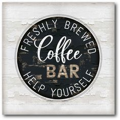 I am in LOVE with this coffee bar sign!  printable | coffee bar | kitchen decor | home decor | #ad