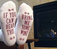 A pair of socks for anyone who likes to ~wine~ about having to get up for a glass of the good stuff.