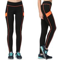 Patchwork yoga fitness gym women pants sport running compression tights outdoor…