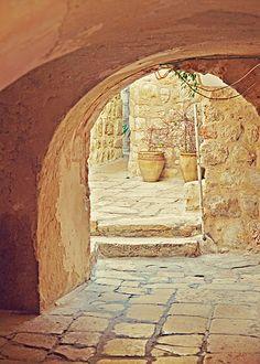 Jerusalem Courtyard - Old City - Israel Travel Photography - 5x7 Fine Art…