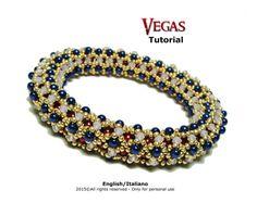 Tutorial Vegas Bangle beading pattern by FucsiaStyle on Etsy