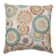 awesome Pillow Perfect Maggie Mae Aqua Throw Pillow
