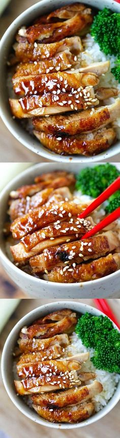 How to make chicken teriyaki – EASY recipe for teriyaki sauce plus chicken teriyaki that tastes like Japanese restaurants | http://rasamalaysia.com
