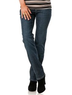 Motherhood Maternity: Indigo Blue Secret Fit Belly(tm) 5 Pocket Straight Leg Maternity Jeans $44.98