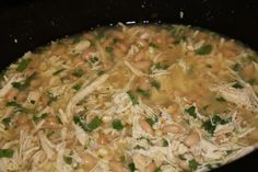Crock pot white chicken chili - this was amazing! Definitely a go-to winter recipe from now on.