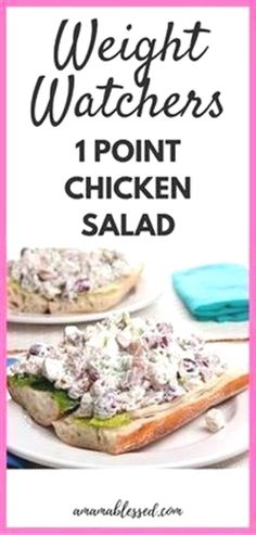Weight Watchers Chicken Salad – Low Points and Delicious! Weight Watchers Chicken Salad – Low Points and Delicious!,Good eats Weight Watchers Chicken Salad Recipe Related Romantic Wedding Hairstyle Trends in 2019 Weight Watchers Snacks, Weight Watchers Chicken Salad Recipe, Poulet Weight Watchers, Weight Watcher Dinners, Chicken Salad Recipes, Low Calorie Chicken Salad Recipe, Weight Watcher Desserts, Weight Watchers Smart Points, Salad Chicken