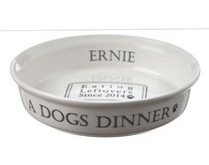 'A Dog's Dinner' White Bowl