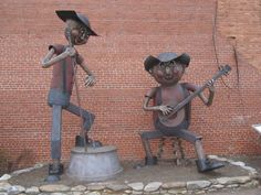 Waynesville, NC, has awesome shops and restaurants - and this cool huge piece of artwork!