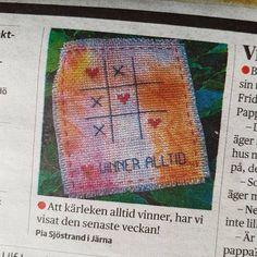 I DN idag. #kärlek #luffarschack #kärlekenvinneralltid #broderi #embroidery #dn #dagensnyheter #non #namnochnytt