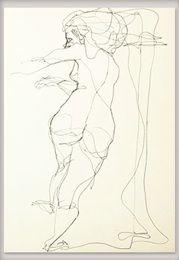 Ilustración - La línea Female, Illustration, Inspiration, Art, Blue Heron, Blue Nails, Biblical Inspiration, Art Background, Kunst