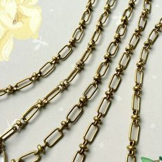 Vintage Beaux Chain, Fancy Brass Chain,11mm, 3Ft from bitpartjewelry on Etsy Studio