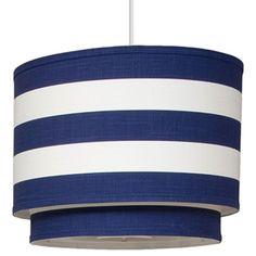 Tiered Stripe Pendant-Cobalt   Furbish Studio