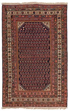 SARABAND CARPET - PERSIAN          Mid 20th century  Approx. 6ft 9in x 4ft 3in (210.3 x 131 cms)