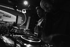 At Afterhourclub Atelier in Bielefeld.  YouGeen and Lawson.
