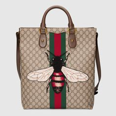 BRAND+NEW+GUCCI+WEB+ANIMALIER+GG+SUPREME+TOTE+BAG+WITH+BEE+RETAIL+$2490+TAX+#GUCCI+#TotesShoppers