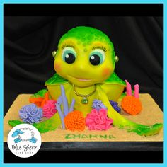 Turtle Birthday Cake – Blue Sheep Bake Shop