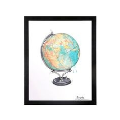 #globus #plakat #emmeselle Poster, Inspiration, Maps, Illustrations, Globe, Kunst, Biblical Inspiration, Illustration, Posters